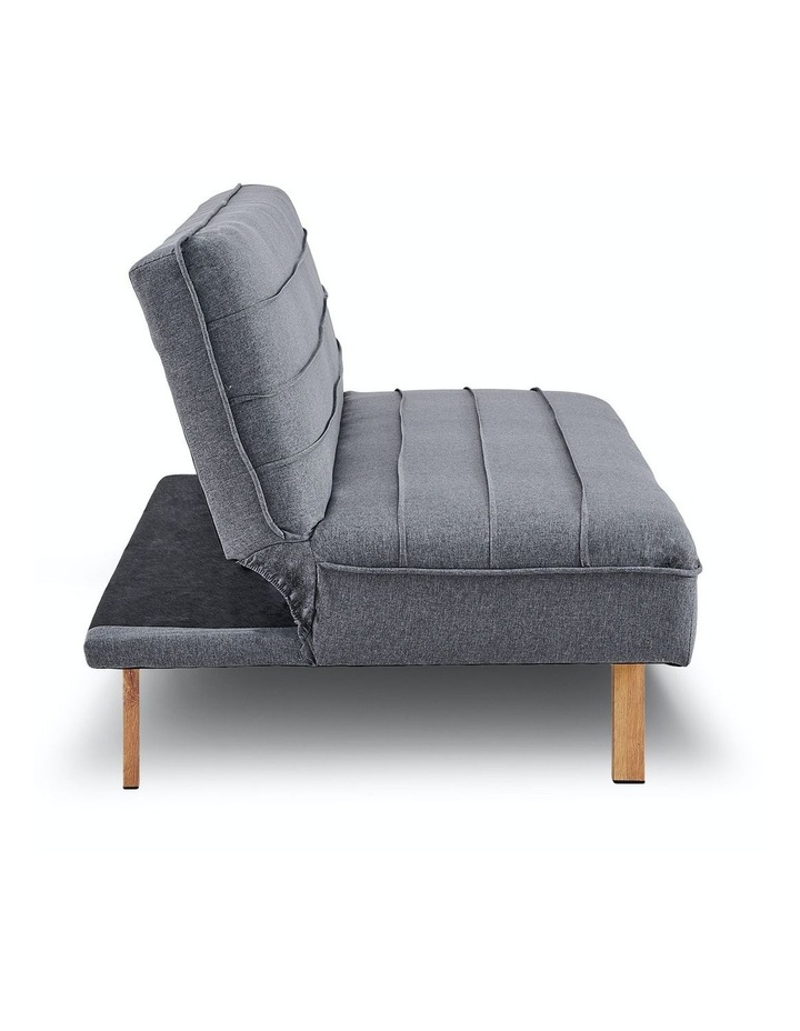 3 Seater Sofa Bed Lounge Couch Modular Furniture Home Linen Fabric Dark Grey image 5