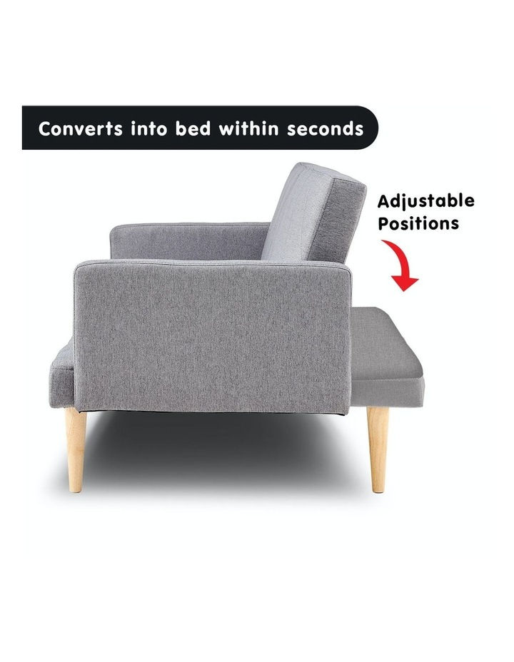 3 Seater Sofa Bed Lounge Couch Modular Furniture Home Linen Fabric Light Grey image 3
