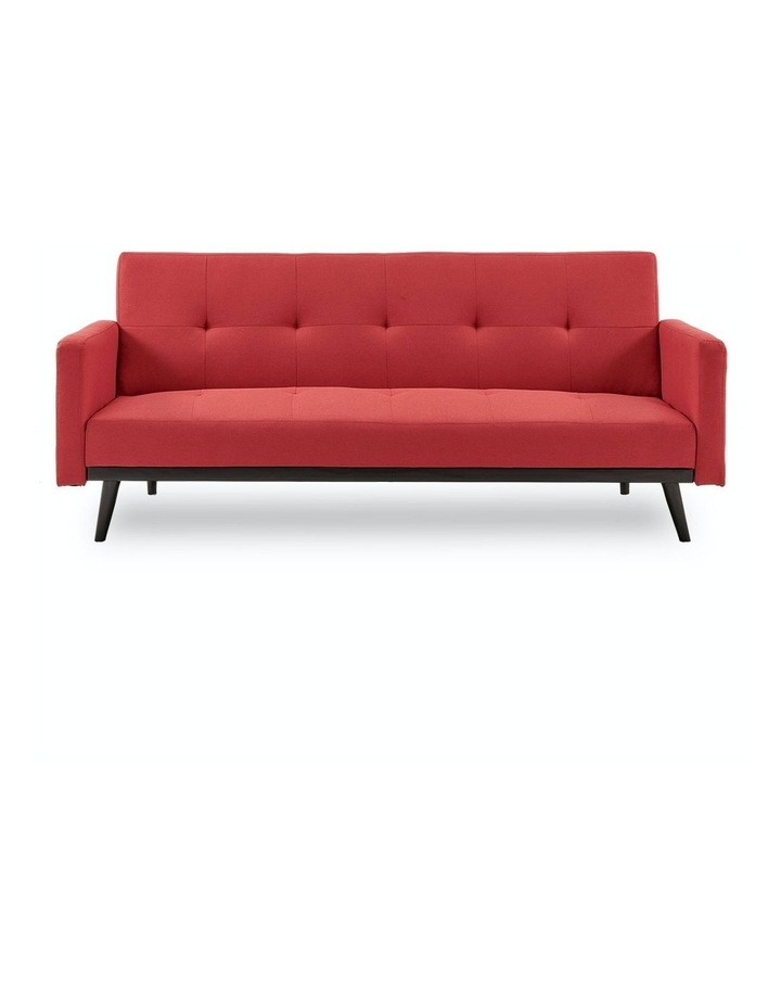 3 Seater Sofa Bed Lounge Futon Couch Modular Furniture Home Linen Fabric Red image 1