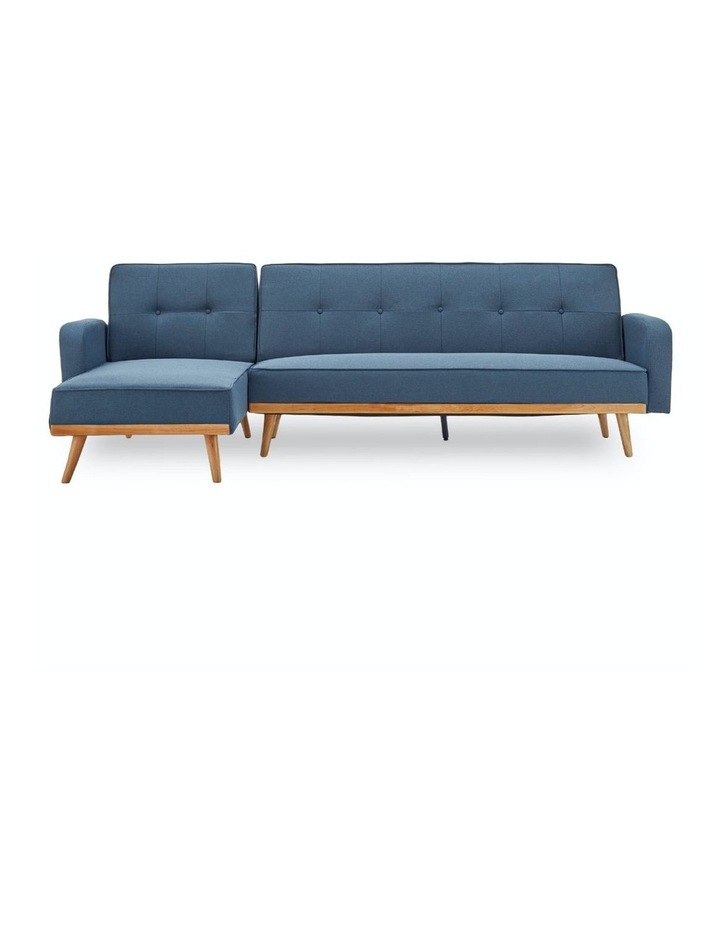 3 Seater Sarantino M2570 Linen Fabric Sofa Bed Lounge Couch Modular Furniture Blue image 1
