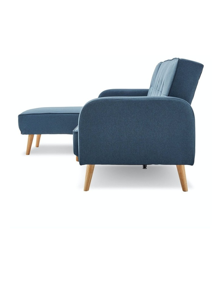 3 Seater Sarantino M2570 Linen Fabric Sofa Bed Lounge Couch Modular Furniture Blue image 5