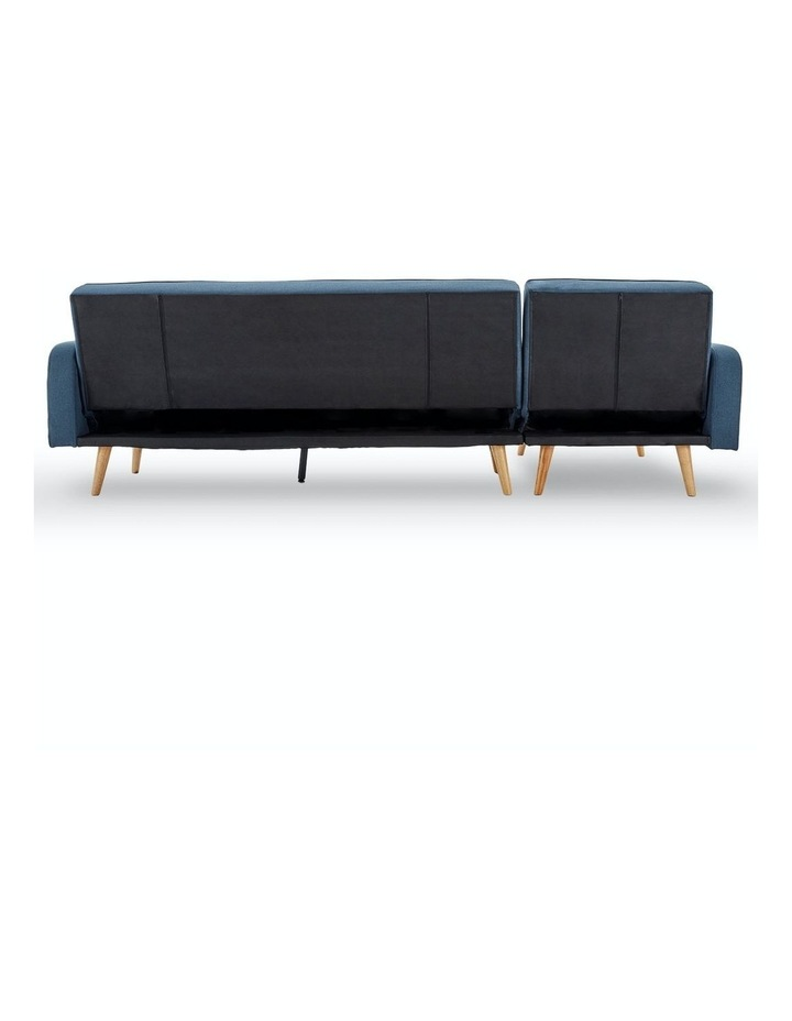 3 Seater Sarantino M2570 Linen Fabric Sofa Bed Lounge Couch Modular Furniture Blue image 6