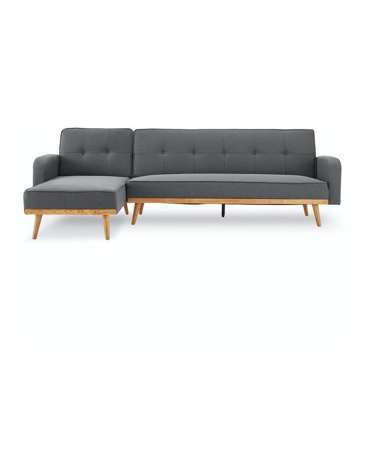 3 Seater Sarantino M2570 Linen Fabric Sofa Bed Lounge Couch Modular Furniture Dark Grey image 1