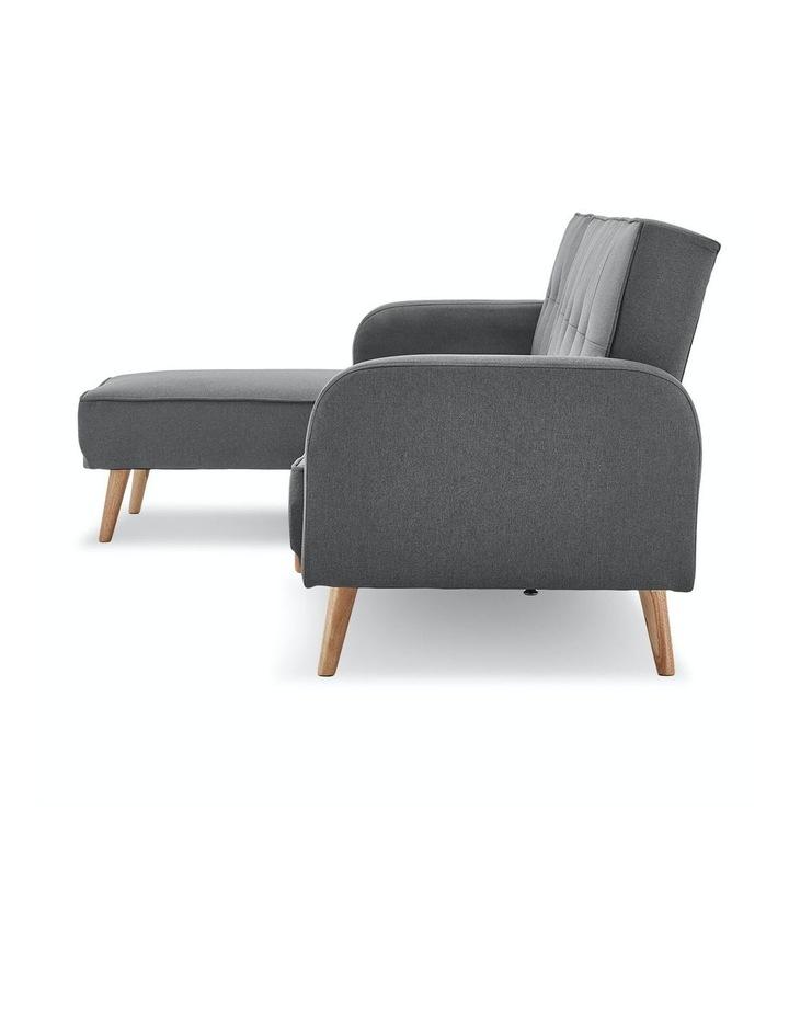 3 Seater Sarantino M2570 Linen Fabric Sofa Bed Lounge Couch Modular Furniture Dark Grey image 5