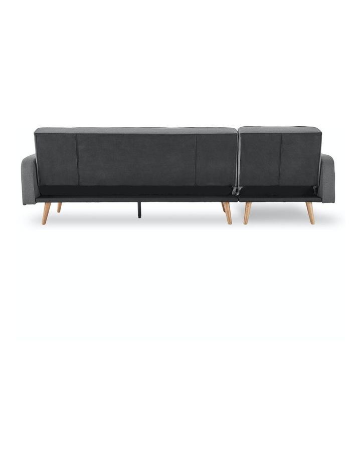 3 Seater Sarantino M2570 Linen Fabric Sofa Bed Lounge Couch Modular Furniture Dark Grey image 6