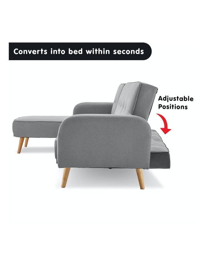 3 Seater Sarantino M2570 Linen Fabric Sofa Bed Lounge Couch Modular Furniture Light Grey image 3
