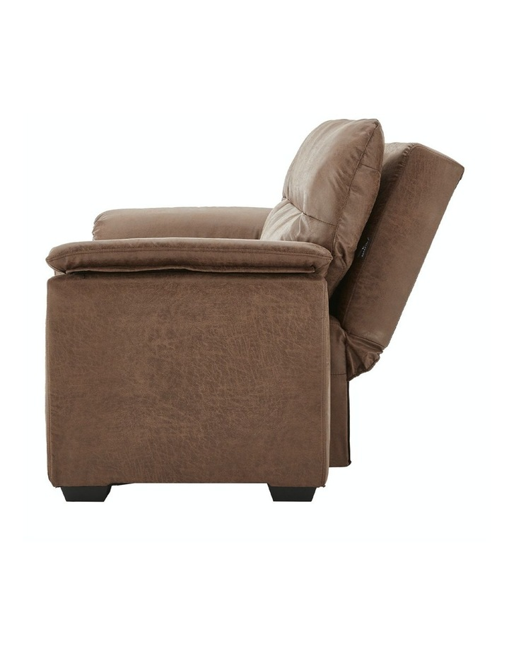 2 Seater Sofa Bed Lounge Futon Couch Modular Furniture Home Faux Velvet Fabric Brown image 4