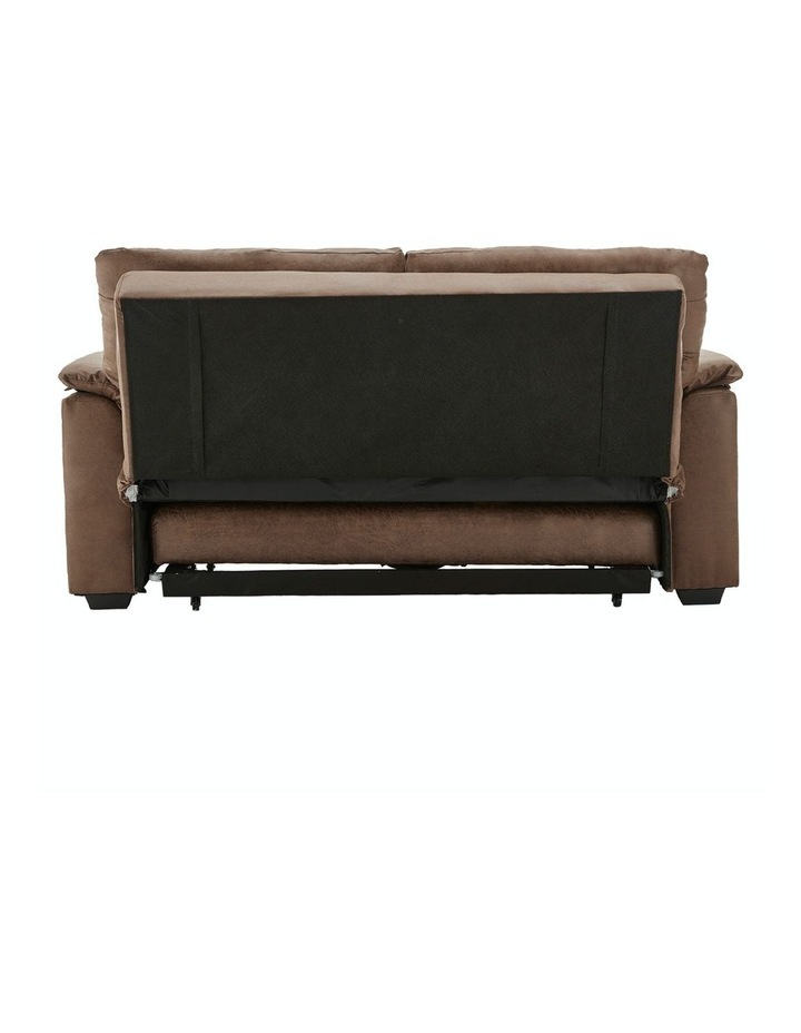 2 Seater Sofa Bed Lounge Futon Couch Modular Furniture Home Faux Velvet Fabric Brown image 5