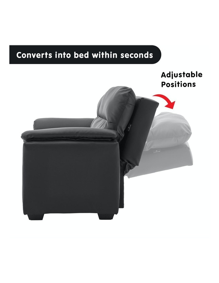 2 Seater Sofa Bed Lounge Futon Couch Modular Furniture Home Faux Velvet Fabric Black image 3