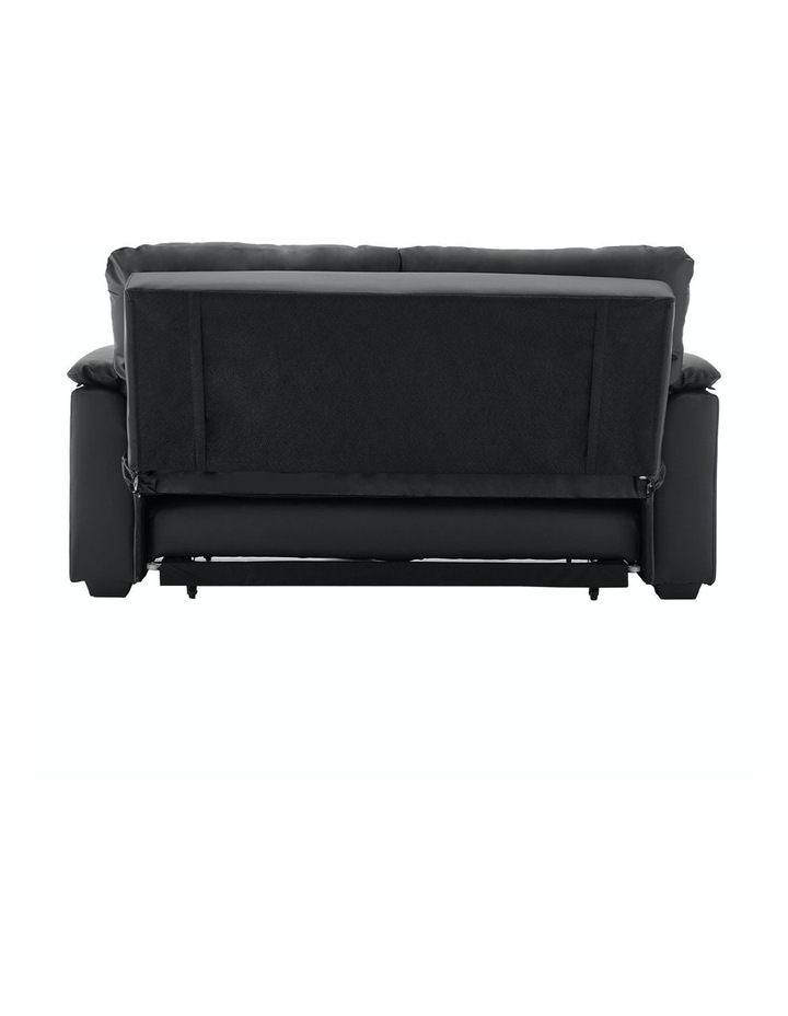 2 Seater Sofa Bed Lounge Futon Couch Modular Furniture Home Faux Velvet Fabric Black image 5