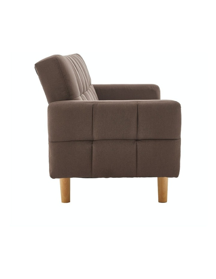 3 Seater Sarantino M3020 Linen Fabric Sofa Bed Lounge Couch Modular Furniture Brown image 6