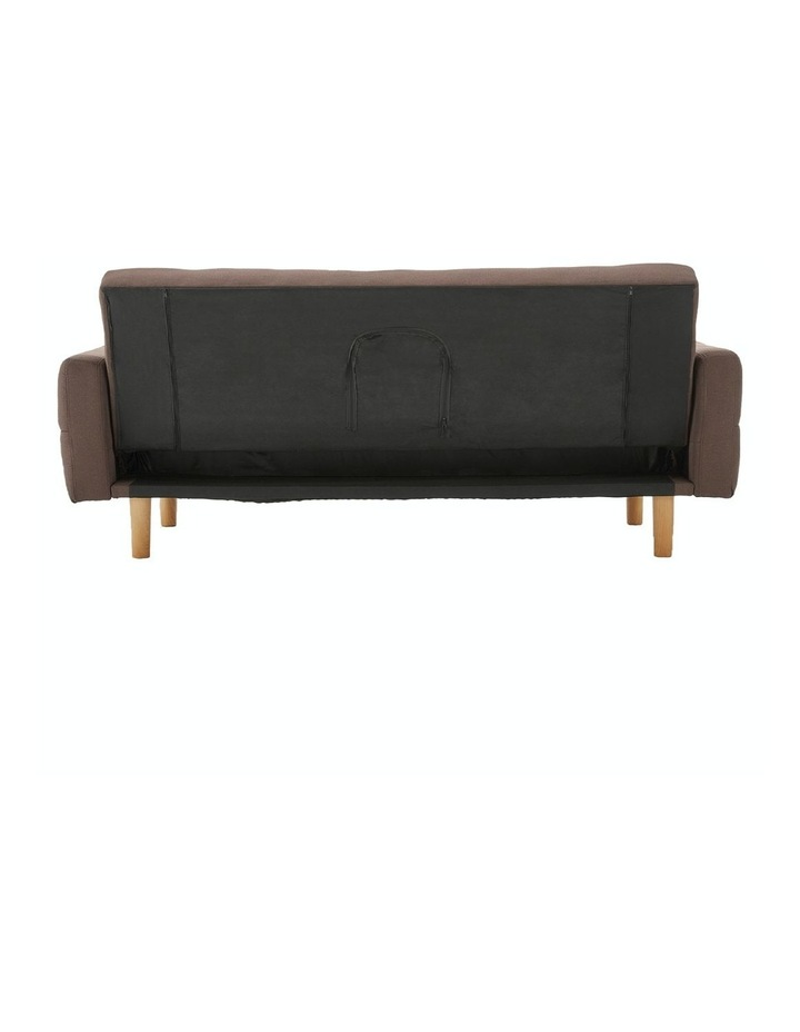 3 Seater Sarantino M3020 Linen Fabric Sofa Bed Lounge Couch Modular Furniture Brown image 7