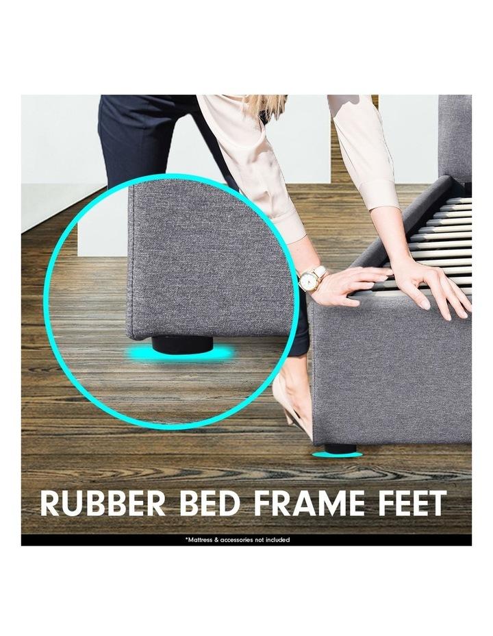 King Size Fabric Linen Bed Frame Base Gas Lift Storage Bedhead - Dark Grey image 7