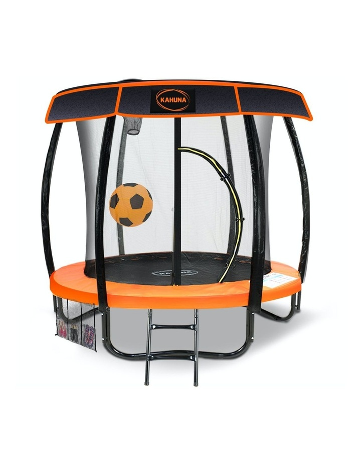 6ft Trampoline Free Safety Net Spring Pad Roof Cover Mat Basketball Set Orange/Blue image 1