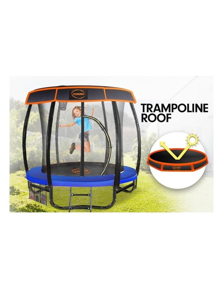 6ft Trampoline Free Safety Net Spring Pad Roof Cover Mat Basketball Set Orange/Blue image 2