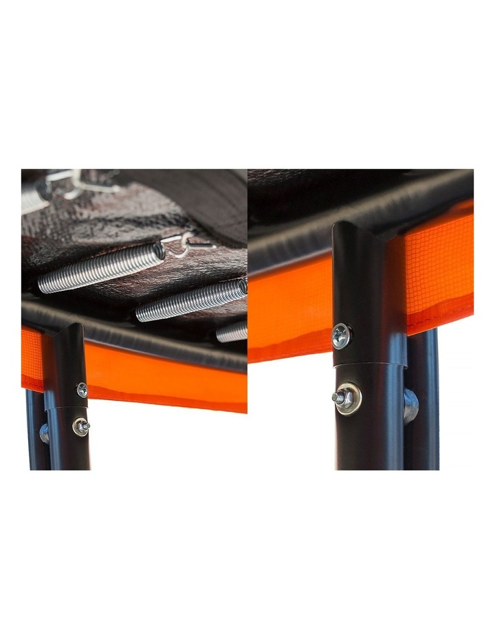 6ft Trampoline Free Safety Net Spring Pad Roof Cover Mat Basketball Set Orange/Blue image 7