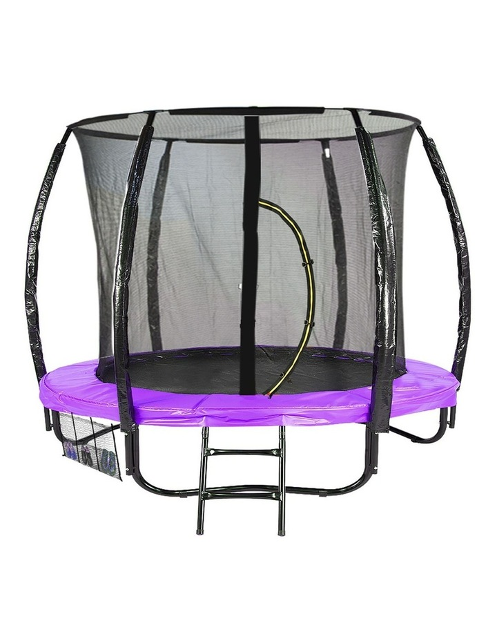 6ft Trampoline Free Ladder Spring Mat Net Safety Pad Cover Round Enclosure Pink image 1