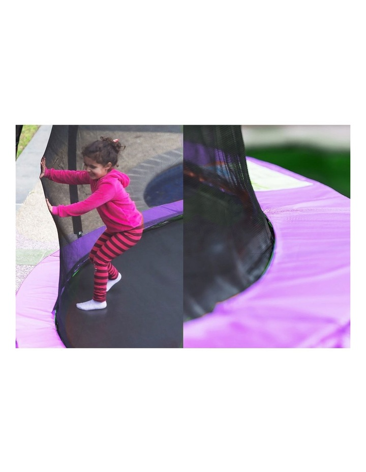 6ft Trampoline Free Ladder Spring Mat Net Safety Pad Cover Round Enclosure Pink image 6