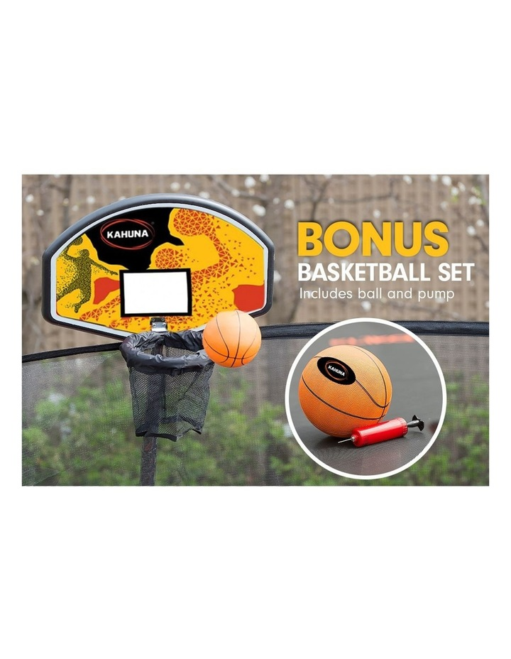 6ft Trampoline Free Safety Net Spring Pad Roof Cover Mat Basketball Set- Rainbow image 5