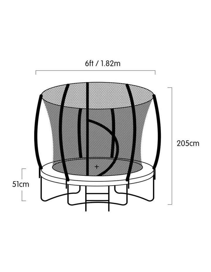 6ft Trampoline Free Safety Net Spring Pad Roof Cover Mat Basketball Set- Rainbow image 6
