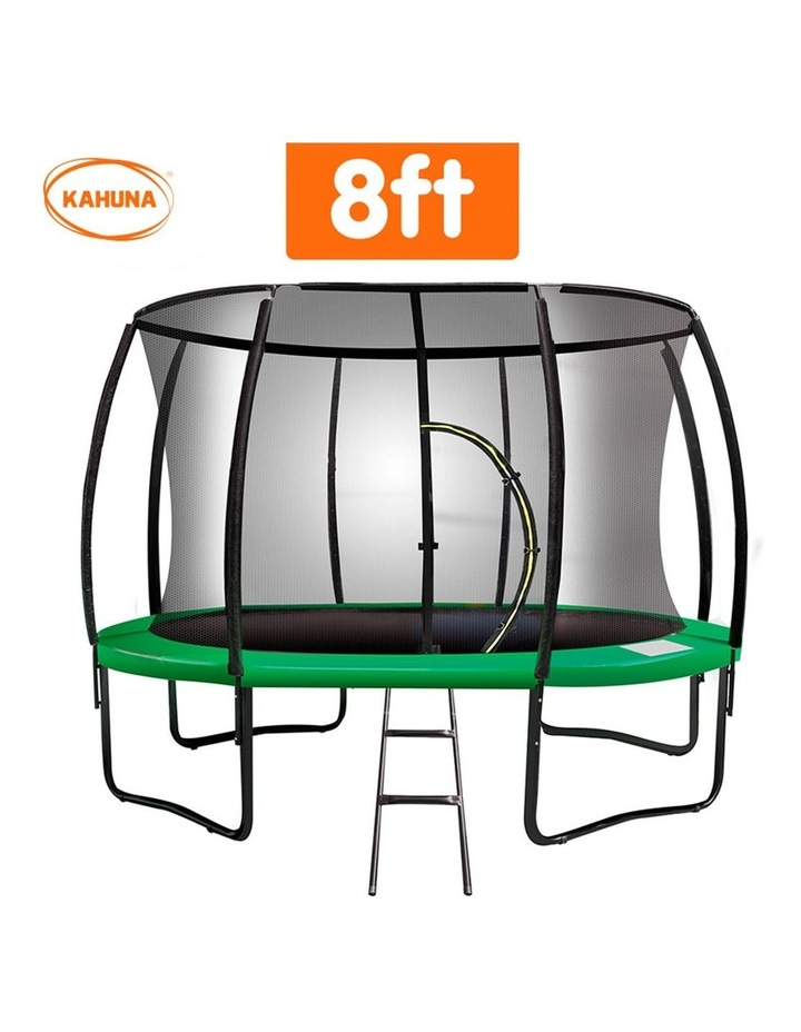 8ft Trampoline Free Ladder Spring Mat Net Safety Pad Cover Round Enclosure Green image 2
