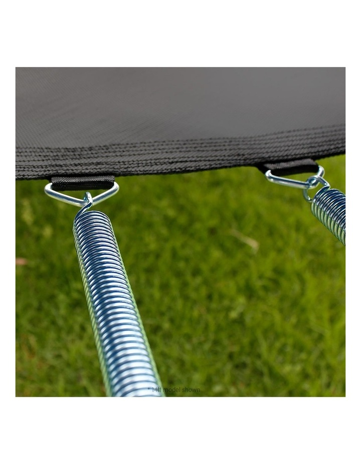 8ft Trampoline Free Ladder Spring Mat Net Safety Pad Cover Round Enclosure Green image 4