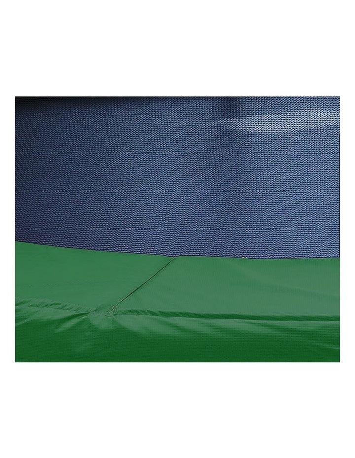 8ft Trampoline Safety Net Spring Pad Cover Mat Ladder Free Basketball Set Green image 3