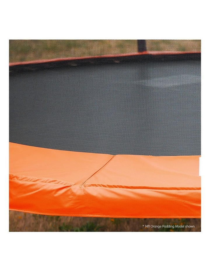 8ft Trampoline Free Ladder Spring Mat Net Safety Pad Cover Round Enclosure Blue/Orange image 3