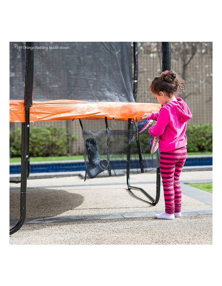 8ft Trampoline Free Ladder Spring Mat Net Safety Pad Cover Round Enclosure Blue/Orange image 4