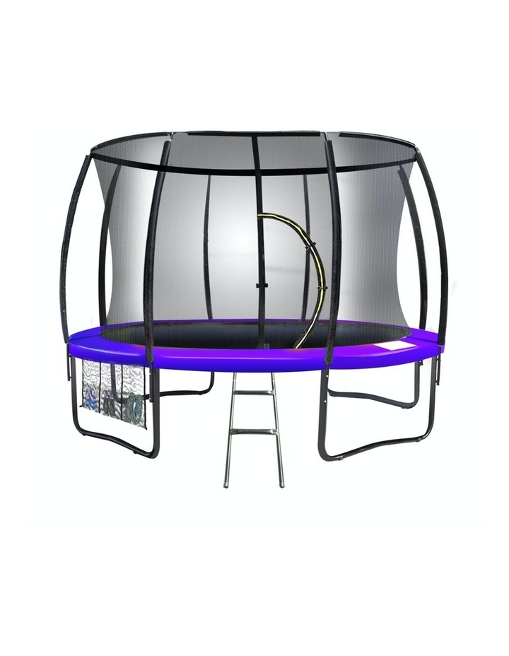 8ft Trampoline Free Ladder Spring Mat Net Safety Pad Cover Round Enclosure Purple image 1