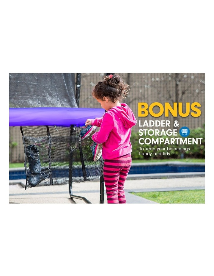 8ft Trampoline Free Ladder Spring Mat Net Safety Pad Cover Round Enclosure Purple image 5