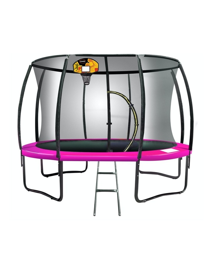 6ft Trampoline Free Ladder Spring Mat Net Safety Pad Cover Round Enclosure Basketball Pink image 1