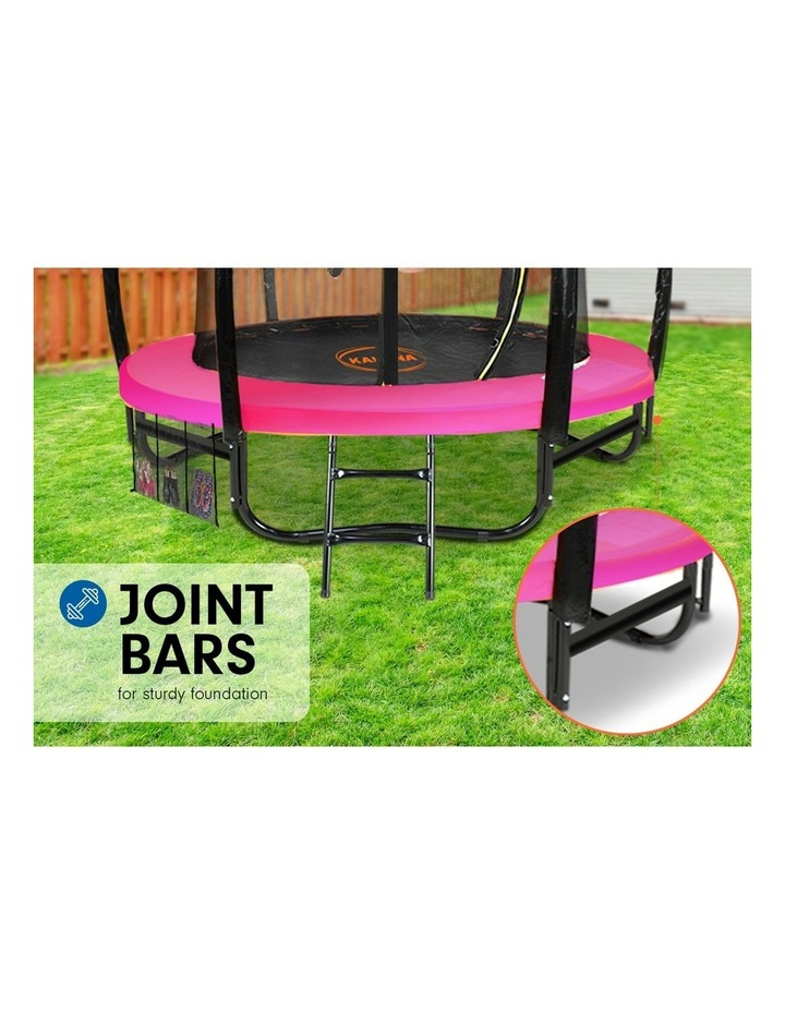 6ft Trampoline Free Ladder Spring Mat Net Safety Pad Cover Round Enclosure Basketball Pink image 6
