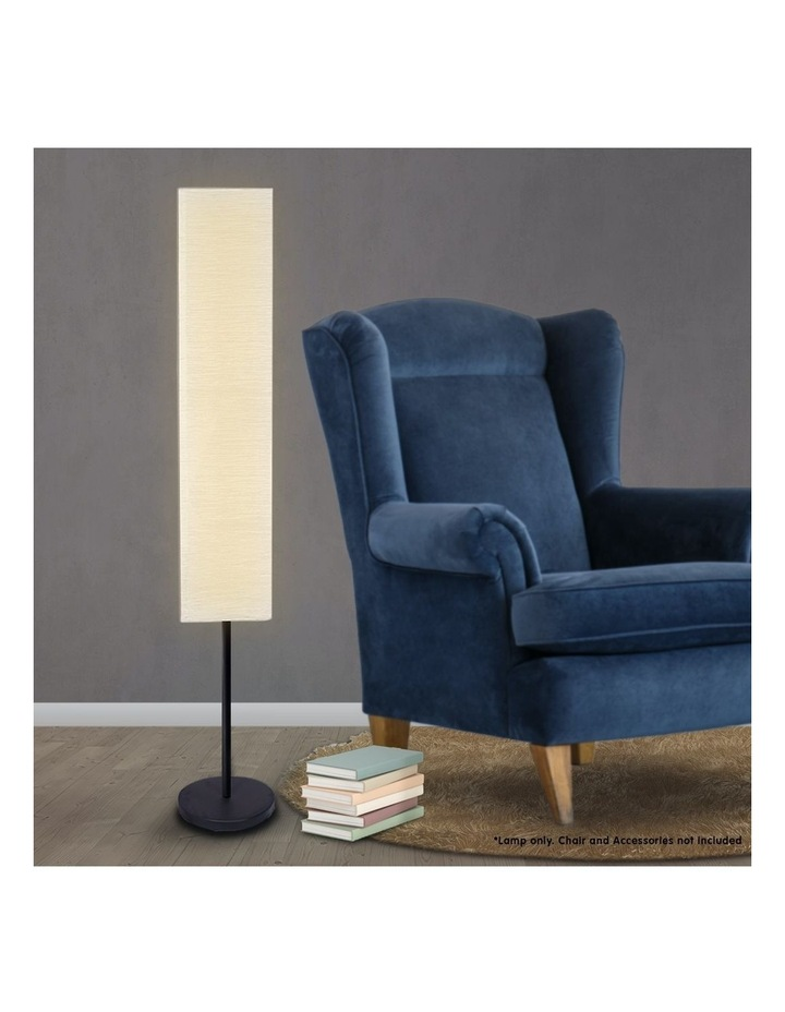 Metal Floor Reading Corner Lamp With White Paper Wrinkle Shade Light Stand image 2