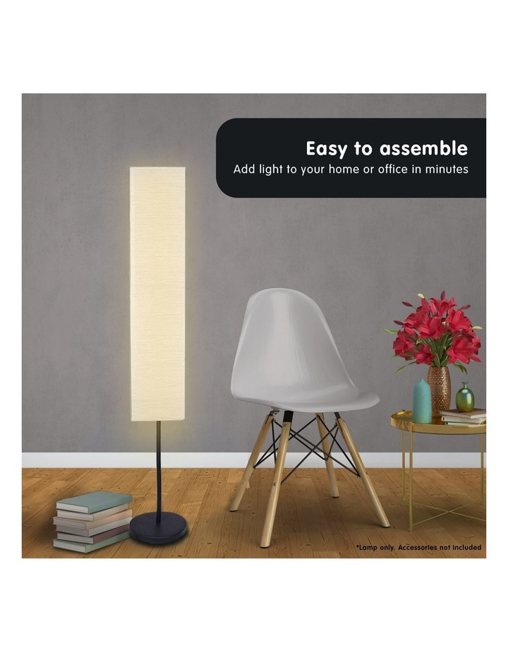 Metal Floor Reading Corner Lamp With White Paper Wrinkle Shade Light Stand image 5