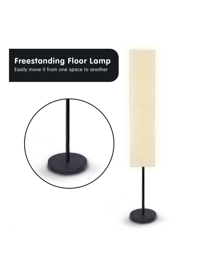 Metal Floor Reading Corner Lamp With White Paper Wrinkle Shade Light Stand image 6
