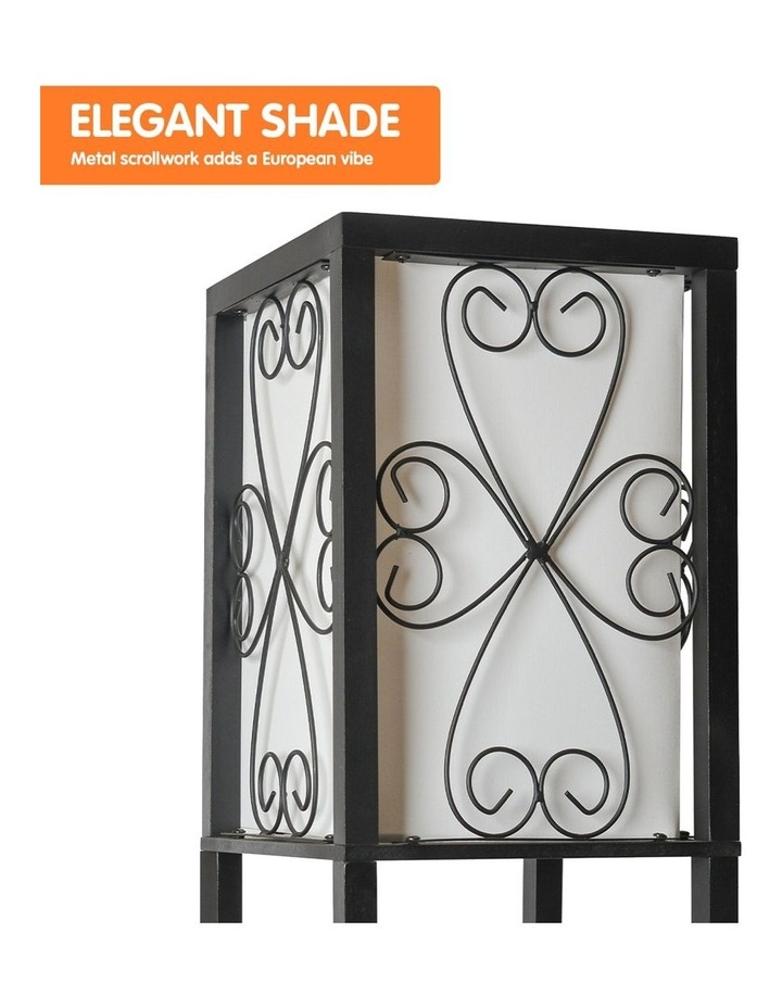 Metal Etagere Floor Lamp Stand Shade With Wine Holder Shelf Shelves Storage image 3