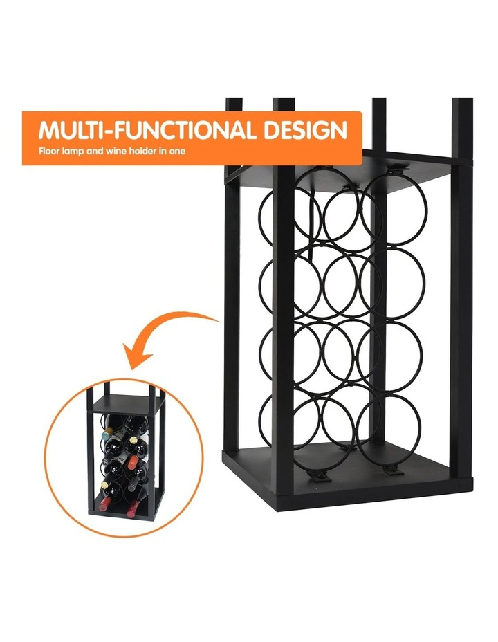 Metal Etagere Floor Lamp Stand Shade With Wine Holder Shelf Shelves Storage image 4