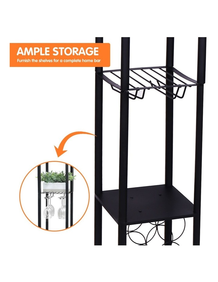 Metal Etagere Floor Lamp Stand Shade With Wine Holder Shelf Shelves Storage image 5