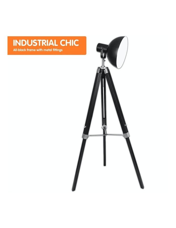 Tripod Floor Spot Lamp With Adjustable Height Metal Shade Black Reading Light image 4