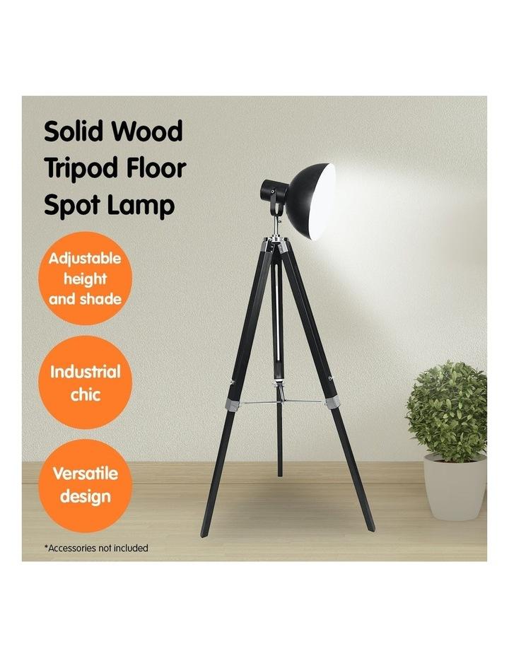 Tripod Floor Spot Lamp With Adjustable Height Metal Shade Black Reading Light image 7