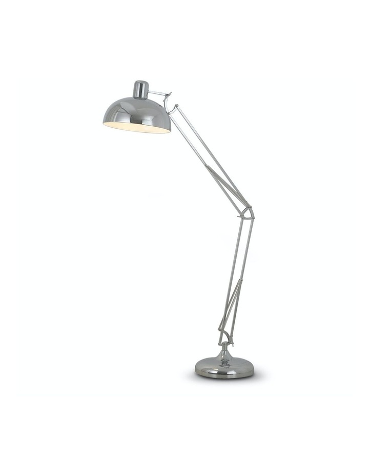 Architect Spot Lamp With Adjustable Height Metal Half Globe Silver Reading Light image 1
