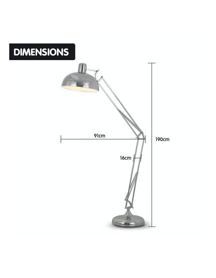 Architect Spot Lamp With Adjustable Height Metal Half Globe Silver Reading Light image 2
