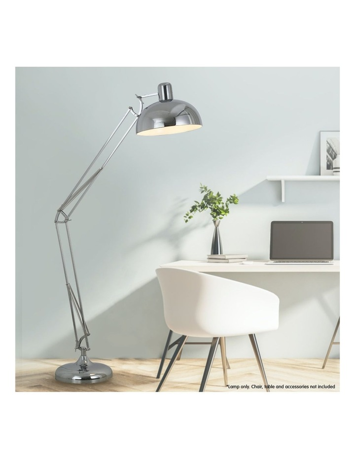 Architect Spot Lamp With Adjustable Height Metal Half Globe Silver Reading Light image 3