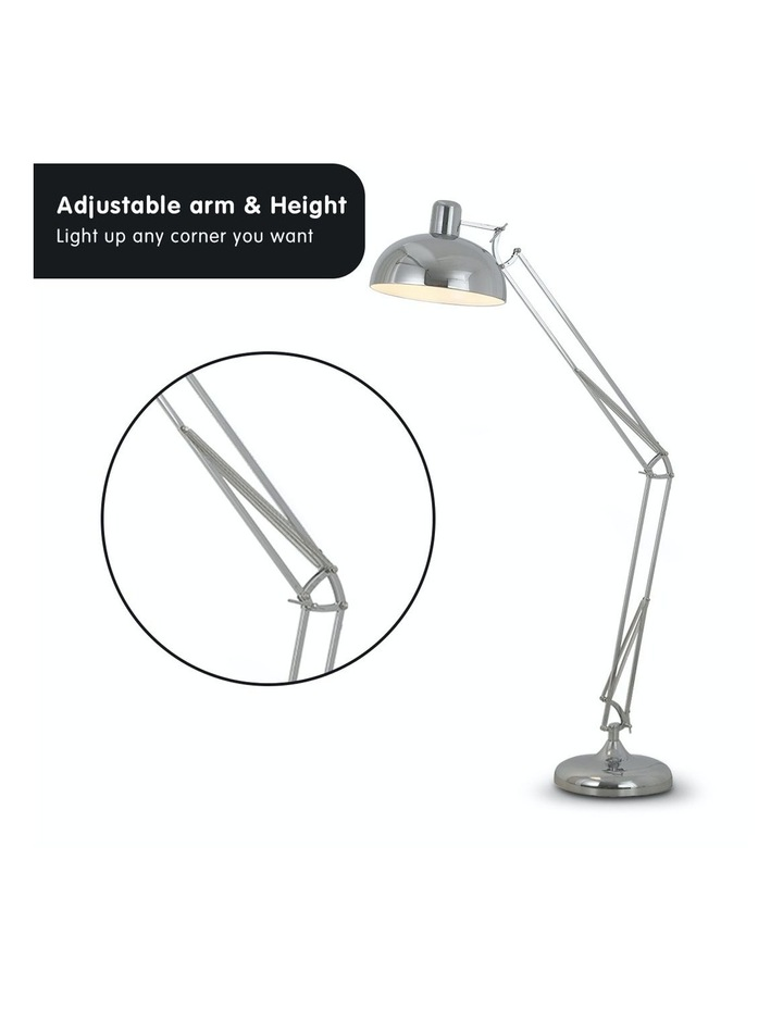 Architect Spot Lamp With Adjustable Height Metal Half Globe Silver Reading Light image 4