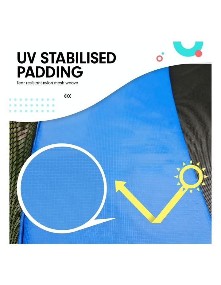 New 8ft Round Trampoline Free Safety Net pad mat ladder shoe Tidy basketball Set Blue image 3