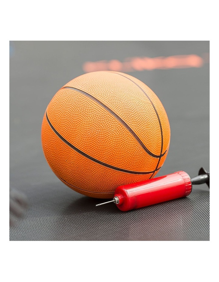 8ft Round Spring Trampoline Free Safety Outer Net pad mat ladder shoe Tidy Basketball Orange image 3