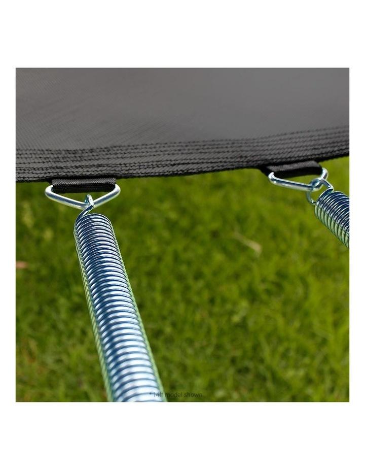 8ft Round Spring Trampoline Free Safety Outer Net pad mat ladder shoe Tidy Basketball Orange image 6
