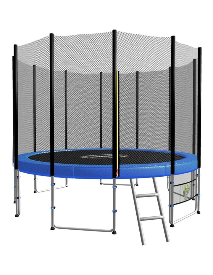 Blizzard 10 Ft Trampoline With Net - Blue image 1