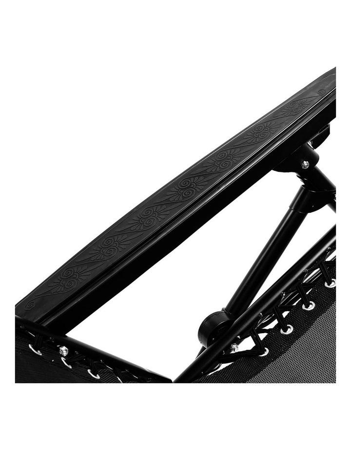 Zero Gravity Reclining Deck Lounge Sun Beach Chair Outdoor Folding Camping Black image 3